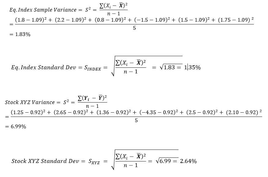 Calculate Variance and Standard Deviation