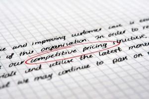 competative pricing